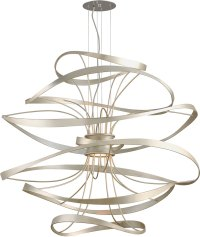 Corbett 213-44 Calligraphy Contemporary Silver Leaf LED ...