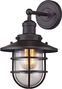 ELK 66366-1 Seaport Nautical Oil Rubbed Bronze Wall Sconce ...