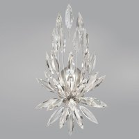 Fine Art Lamps 881850ST Lily Buds Silver Leaf Wall Sconce