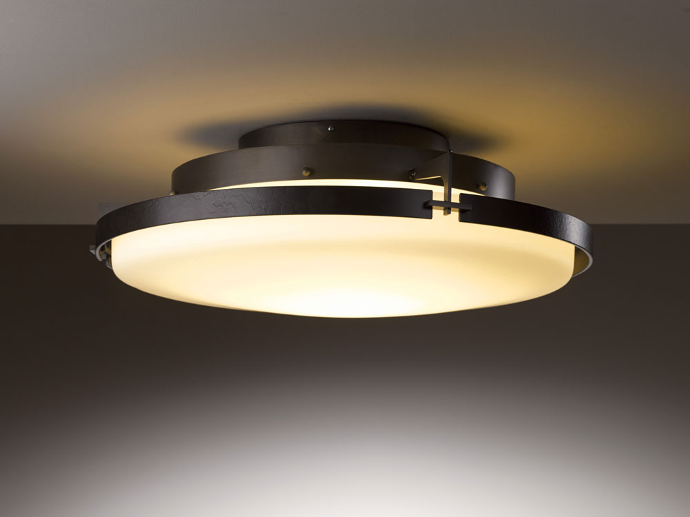 """Hubbardton Forge 126747D Metra 24.3"""" Wide LED Ceiling"""