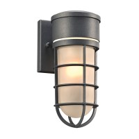 PLC 8050BZ Cage Modern Bronze Outdoor Wall Light Sconce ...