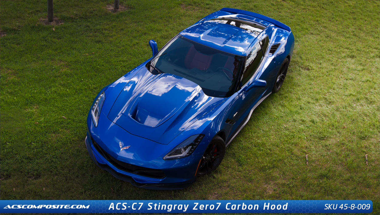 Car Window Replacement Acs Chevrolet Corvette C7 Stingray Zero7 Hood 45-8-009
