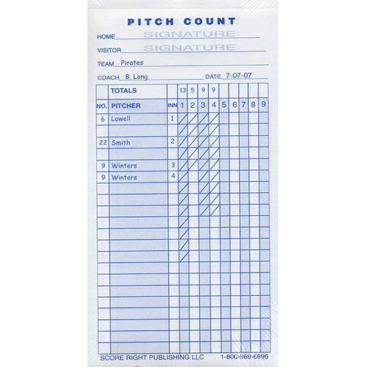 pitch count sheet - Brucebrianwilliams - Baseball Score Sheet With Pitch Count