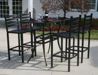 Ansley Luxury 4-Person All Welded Cast Aluminum Patio ...