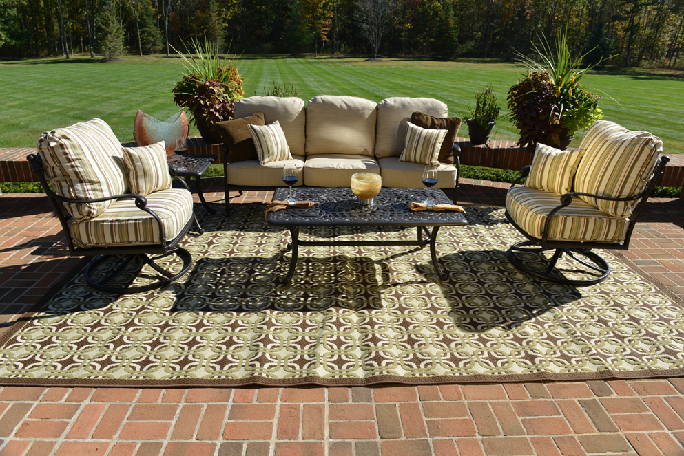 Serena 5-Piece Luxury Cast Aluminum Patio Furniture Deep Seating Set