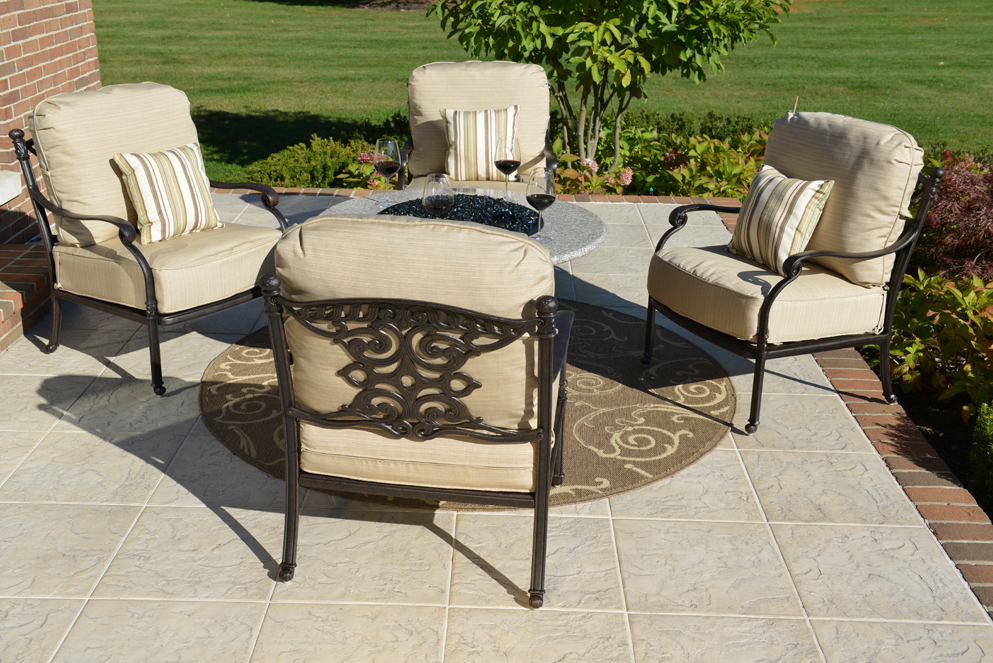 Serena 4 Person Luxury Cast Aluminum Patio Furniture Chat