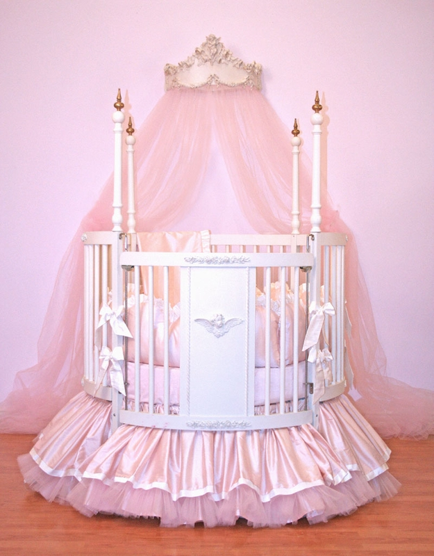 Newborn Bassinet Bedding Alexa Round Crib Linens By Little Bunny Blue