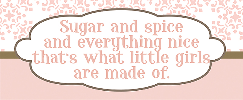 Sugar And Spice And Everything Nice Canvas Reproduction