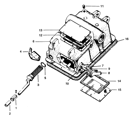 tractor fuel filter assembly