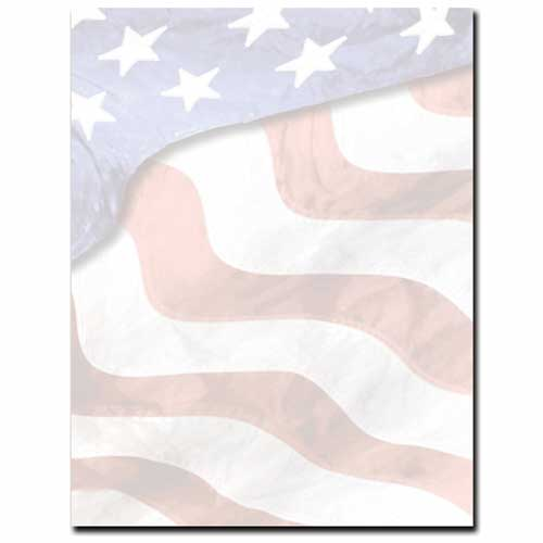 Grand Old American Flag Patriotic Border Paper