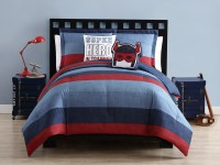 Collin Navy/Red Comforter Set