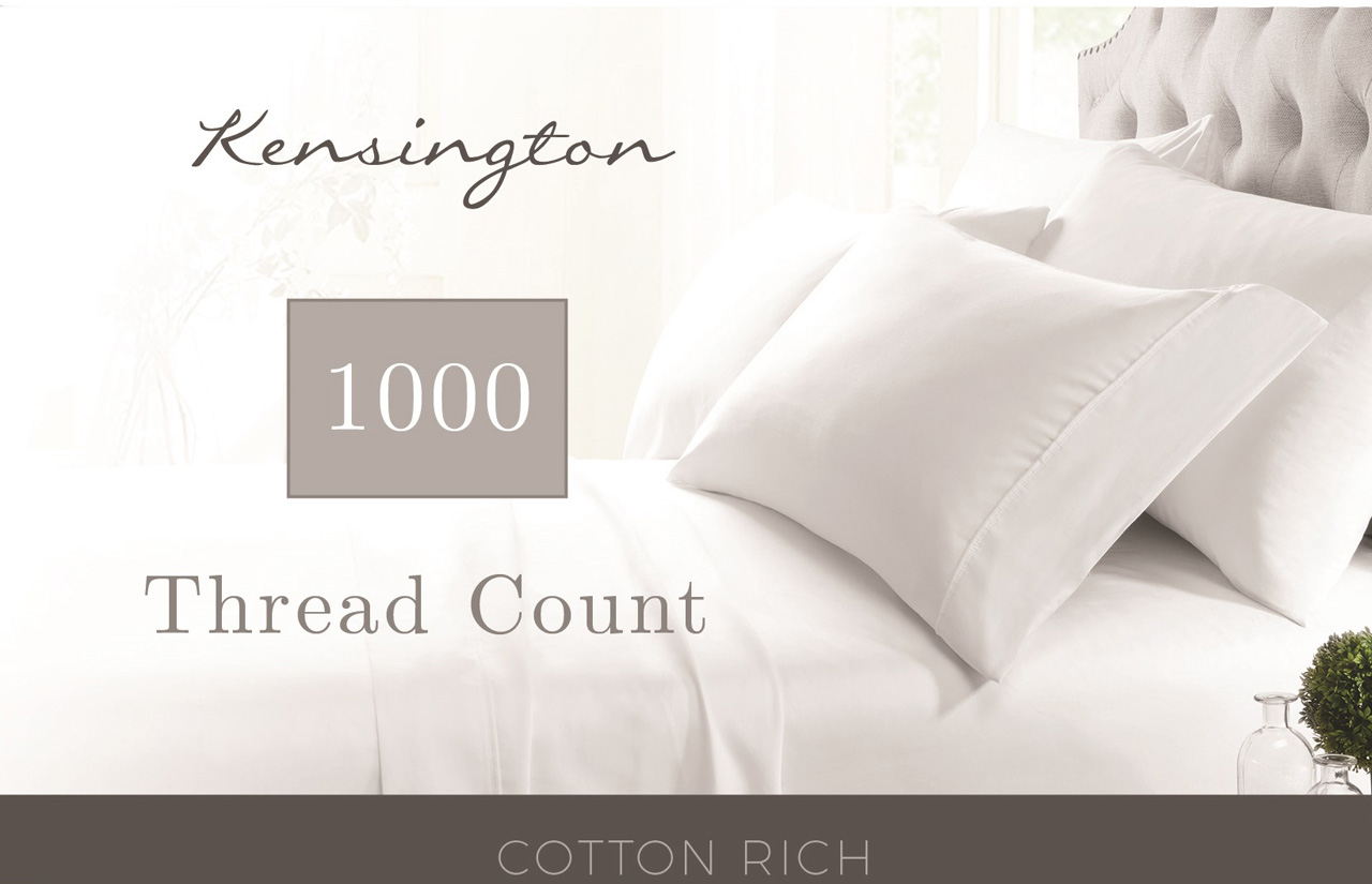 1000 Thread Count Sheets King Kensington 1000 Thread Count Solid Cotton Rich Sheet Set