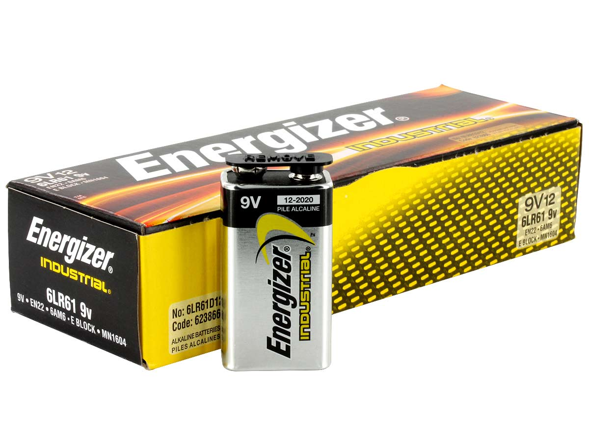 Batterie 9v Energizer En22 Industrial 9v Battery 12 Pk