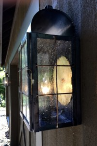 New Haven Wall Sconce Copper Lantern Installation - New ...