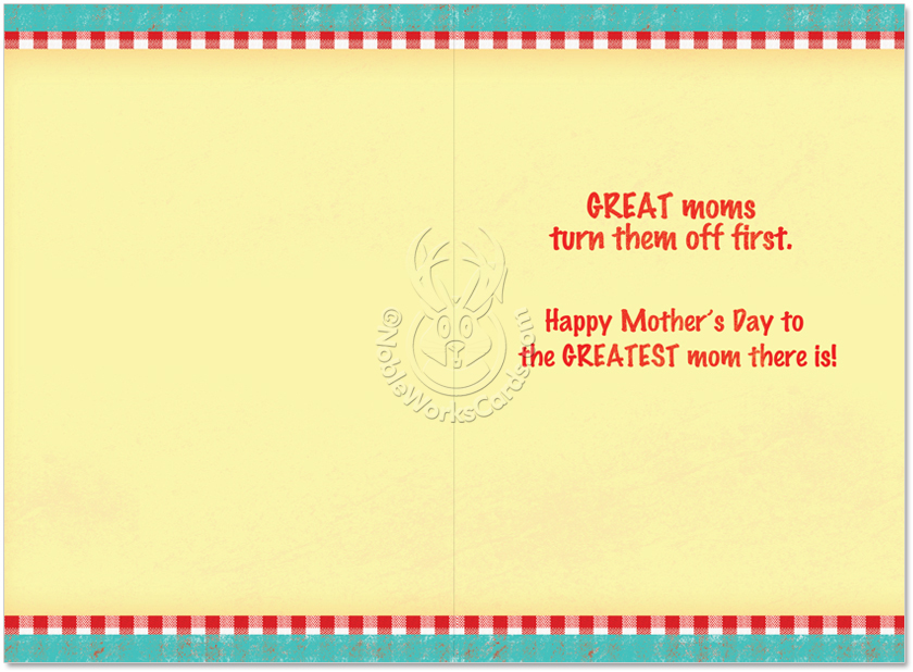 Lick the Beaters Funny Mother\u0027s Day Greeting Card