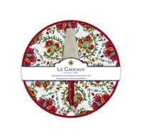 Allegra Red Cake Plate With Cake Server by Le Cadeaux