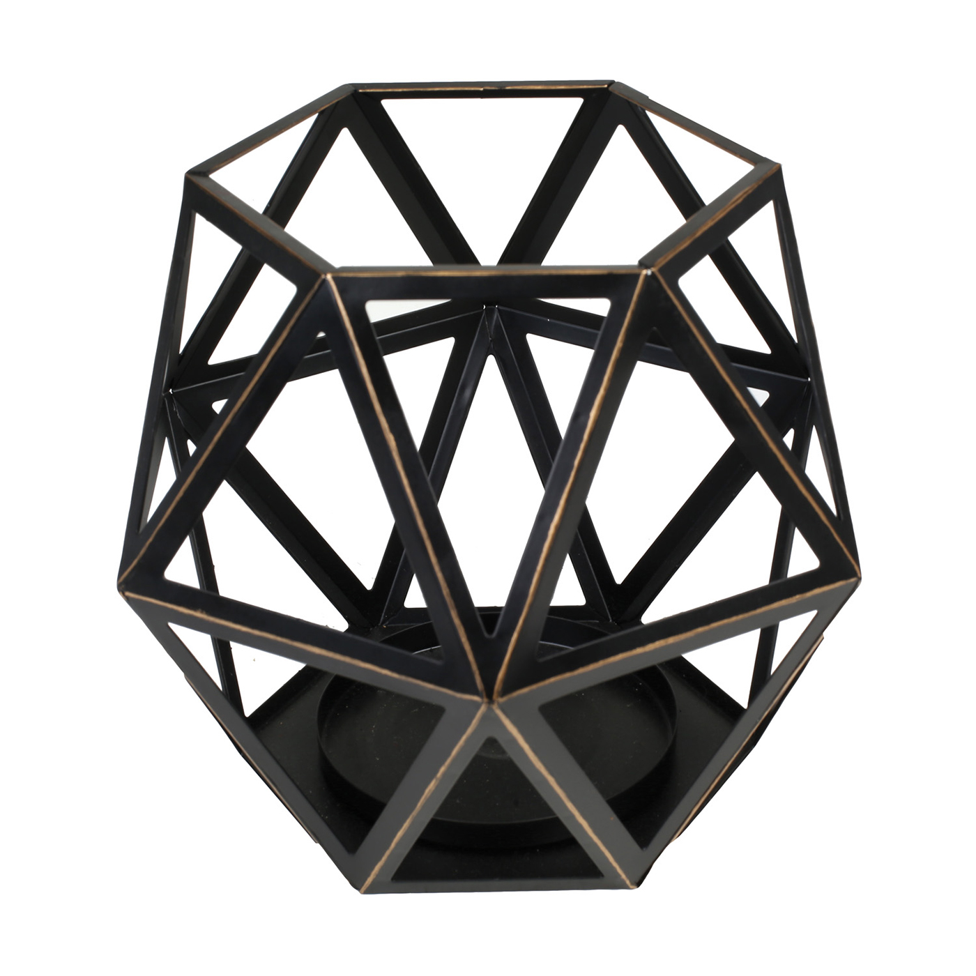 Large Geometric Candle Holder By Virginia Gift Brands