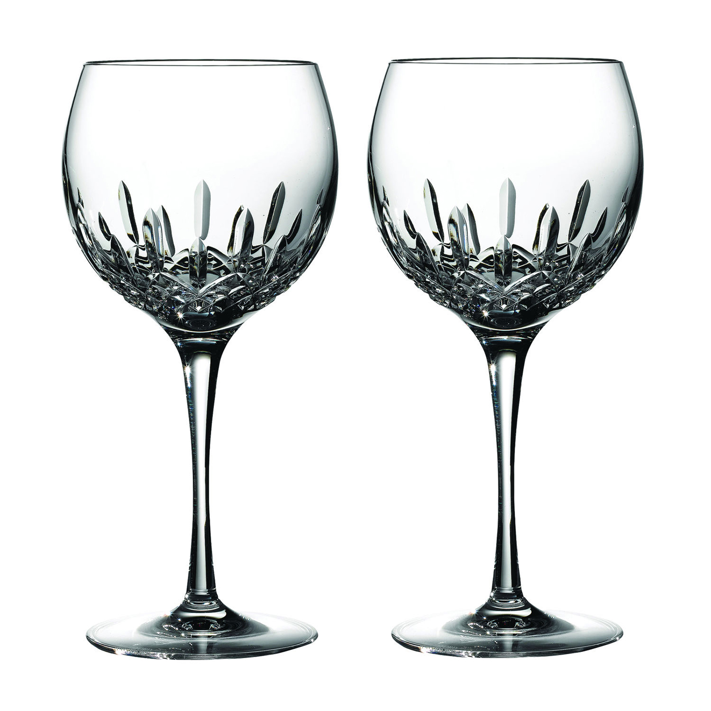Black Wine Goblets Lismore Essence Balloon Wine Glass Pair By Waterford