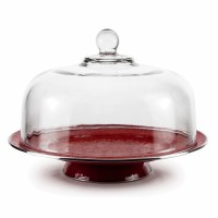 Solid Red Cake Plate by Golden Rabbit