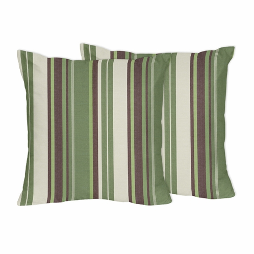 Green And Brown Ethan Decorative Accent Throw Pillows By