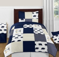 Navy Blue, Gold, and White Big Bear Boy Twin Kid Childrens ...