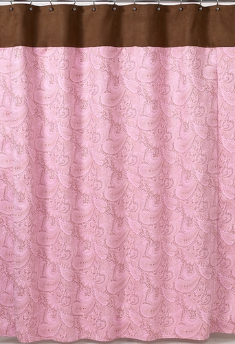 Vorhang Rosa Braun Pink And Brown Paisley Kids Bathroom Fabric Bath Shower