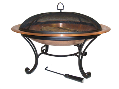 Round Copper Fire Pit Bowl