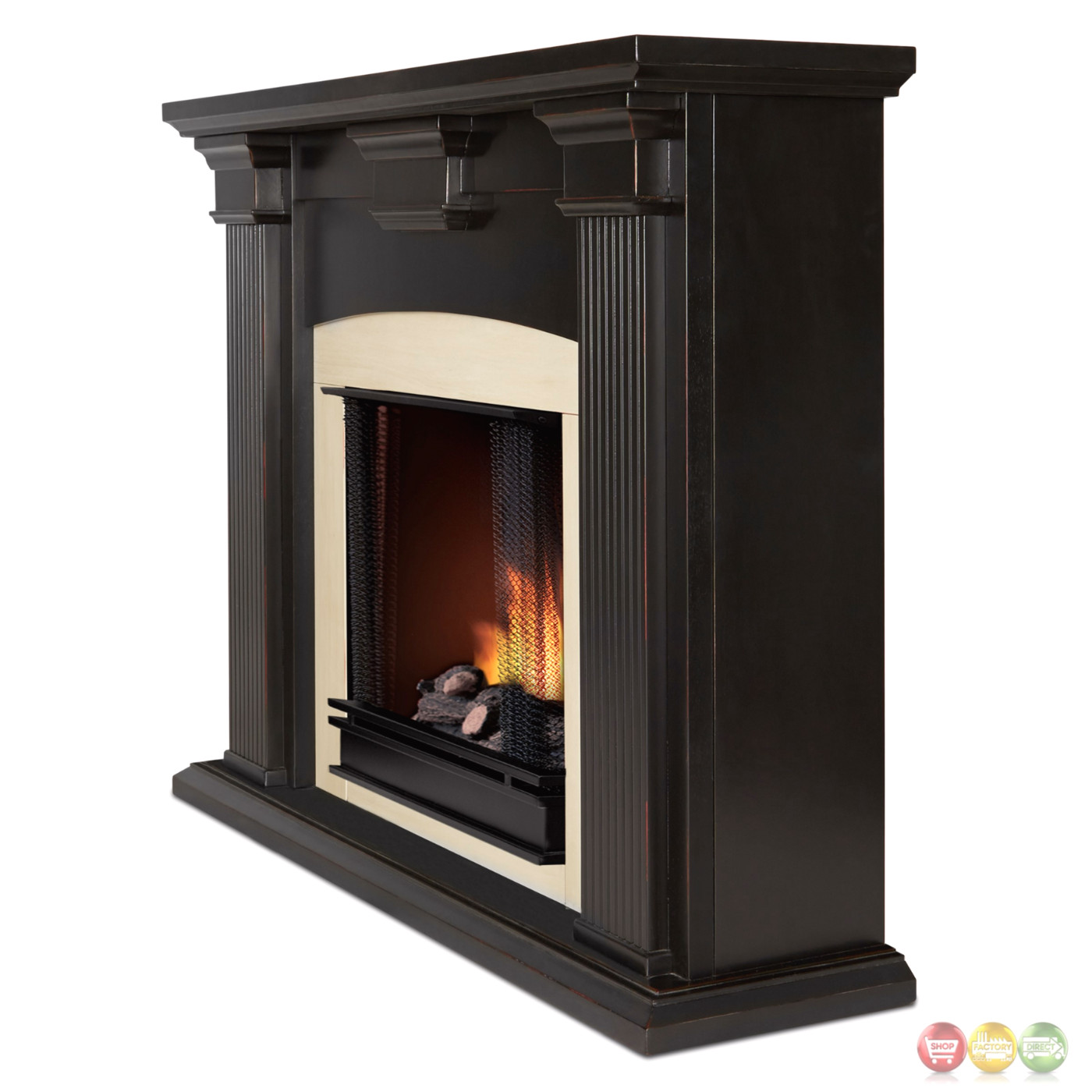 Antique White Gel Fireplace Adelaide Ventless Gel Fireplace In Antique Blackwash With