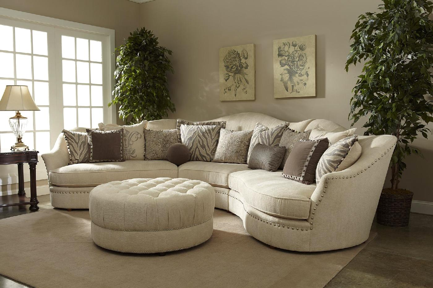 Living Room Furniture Ivory Sofa Ivory Sectional Sofa Curved Sectional Shop Factory Direct