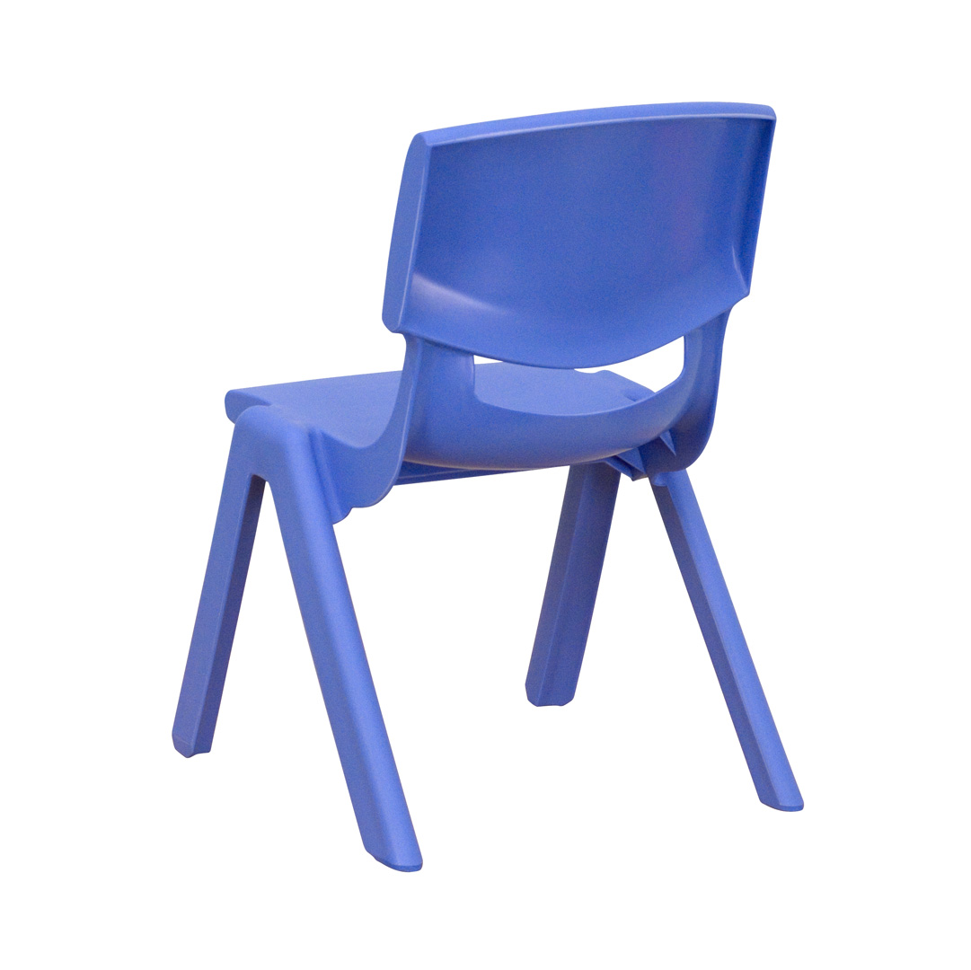 Blue Plastic Stackable School Chair With 105 Inch Seat