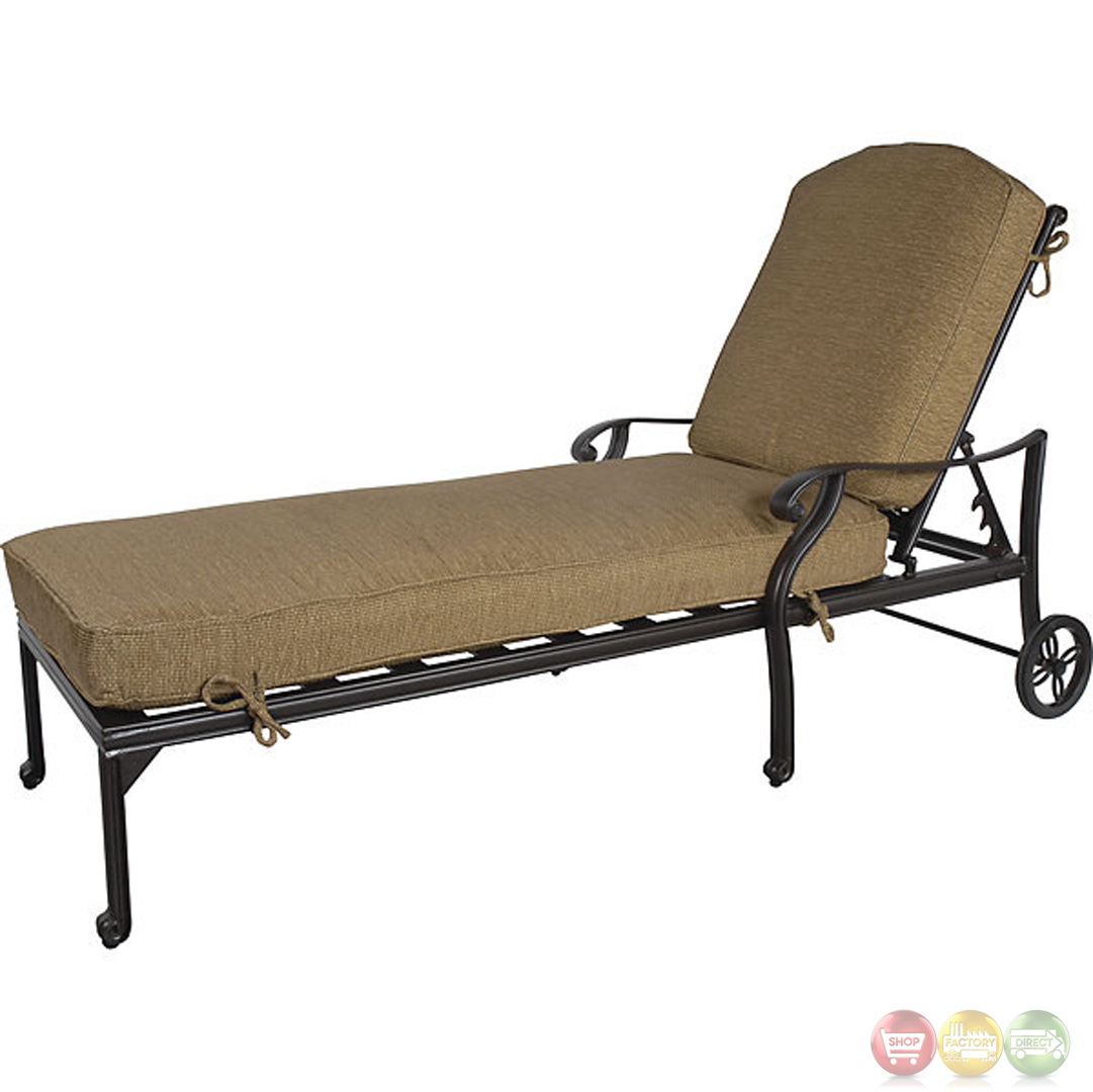 Outdoor Chaise Lounge Charleston 3 Piece Cast Aluminum Outdoor Chaise Lounge Set