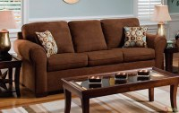 Chocolate Brown Microfiber Sofa And Love Seat Living Room ...