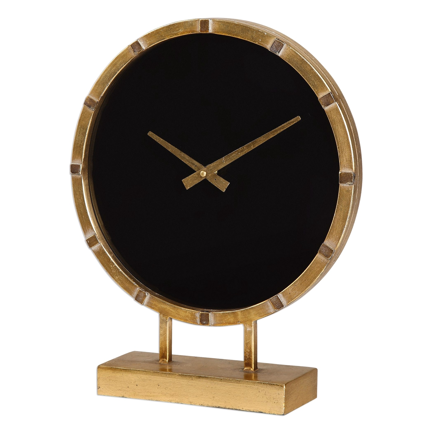 Table Clock Modern Contemporary Aldo Quartz Movement Gold Table Clock With