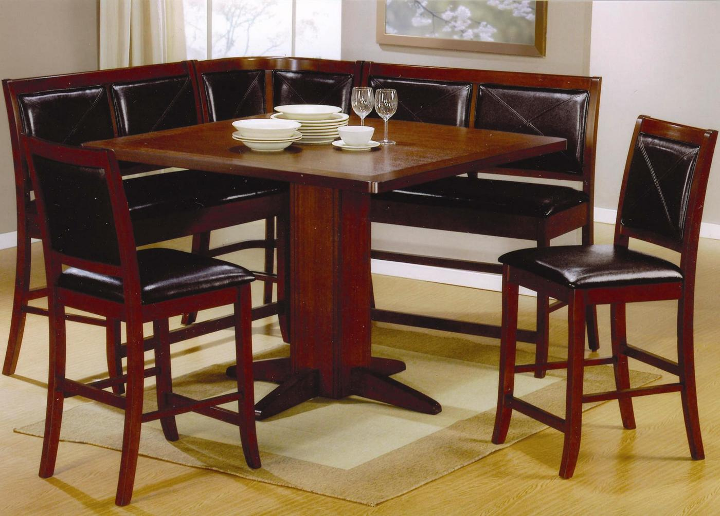 Corner Table Dining Set Corner Unit Dining Set Counter Height 101791 101792 Coaster