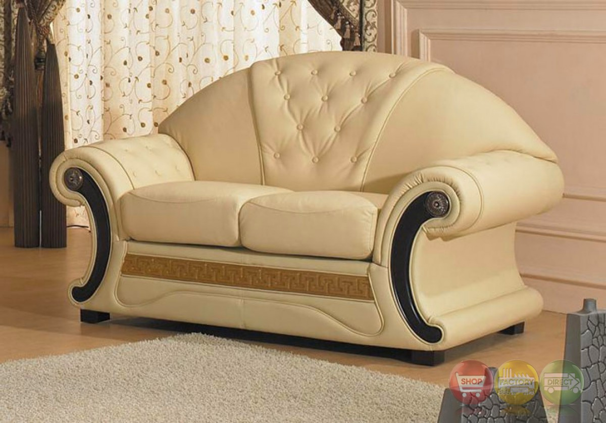 Divani Sofa Set Divani Casa Cleopatra Cream Italian Leather Sofa Set