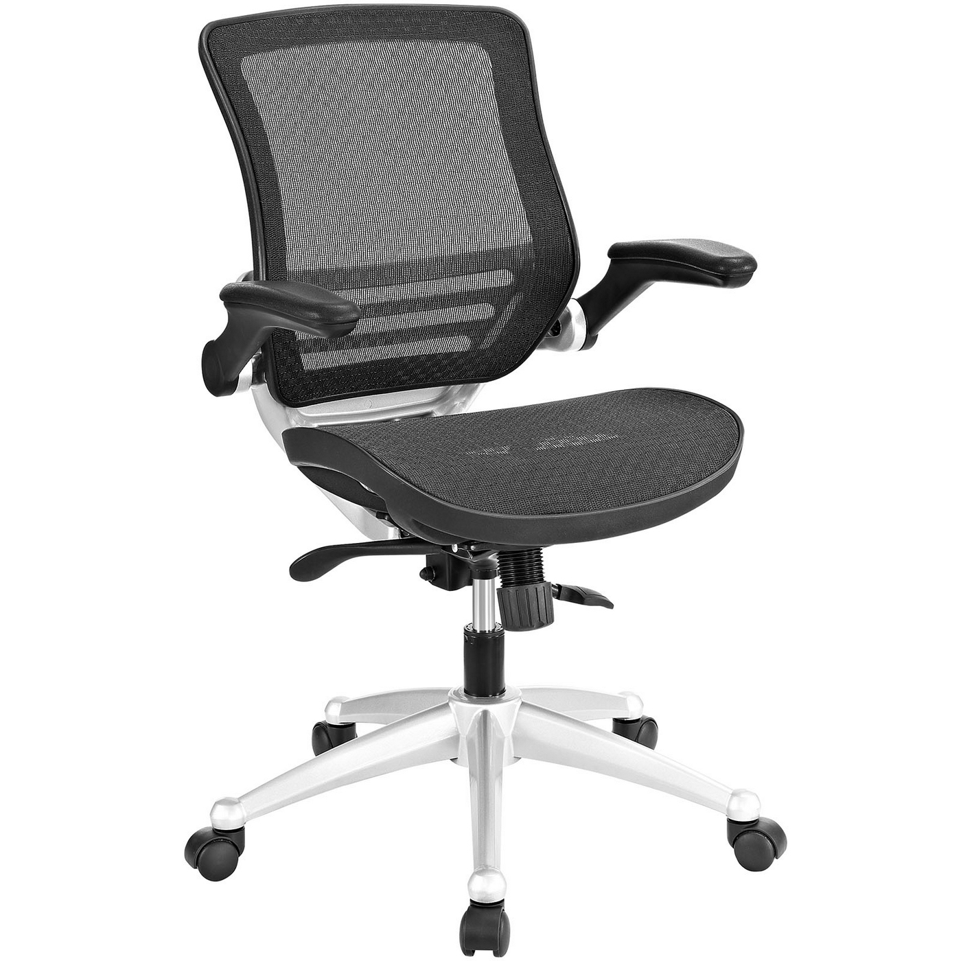 Ergonomic Mesh Office Chair Edge Modern Ergonomic Mesh Office Chair W/ Padded Vinyl
