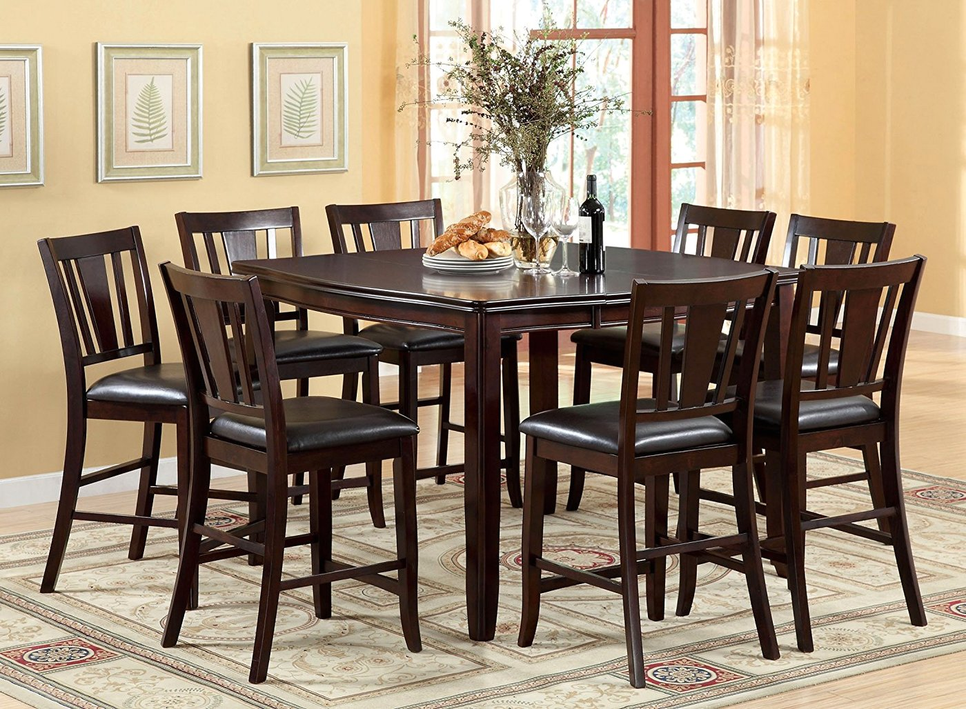 Dining Table Height Cm Edgewood Ii Transitional Espresso Counter Height Dining