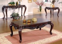 Elegant Traditional 3 Piece Living Room Table Set Cocktail ...
