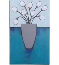Flower Pods Hand Painted Canvas Wall Art 34410