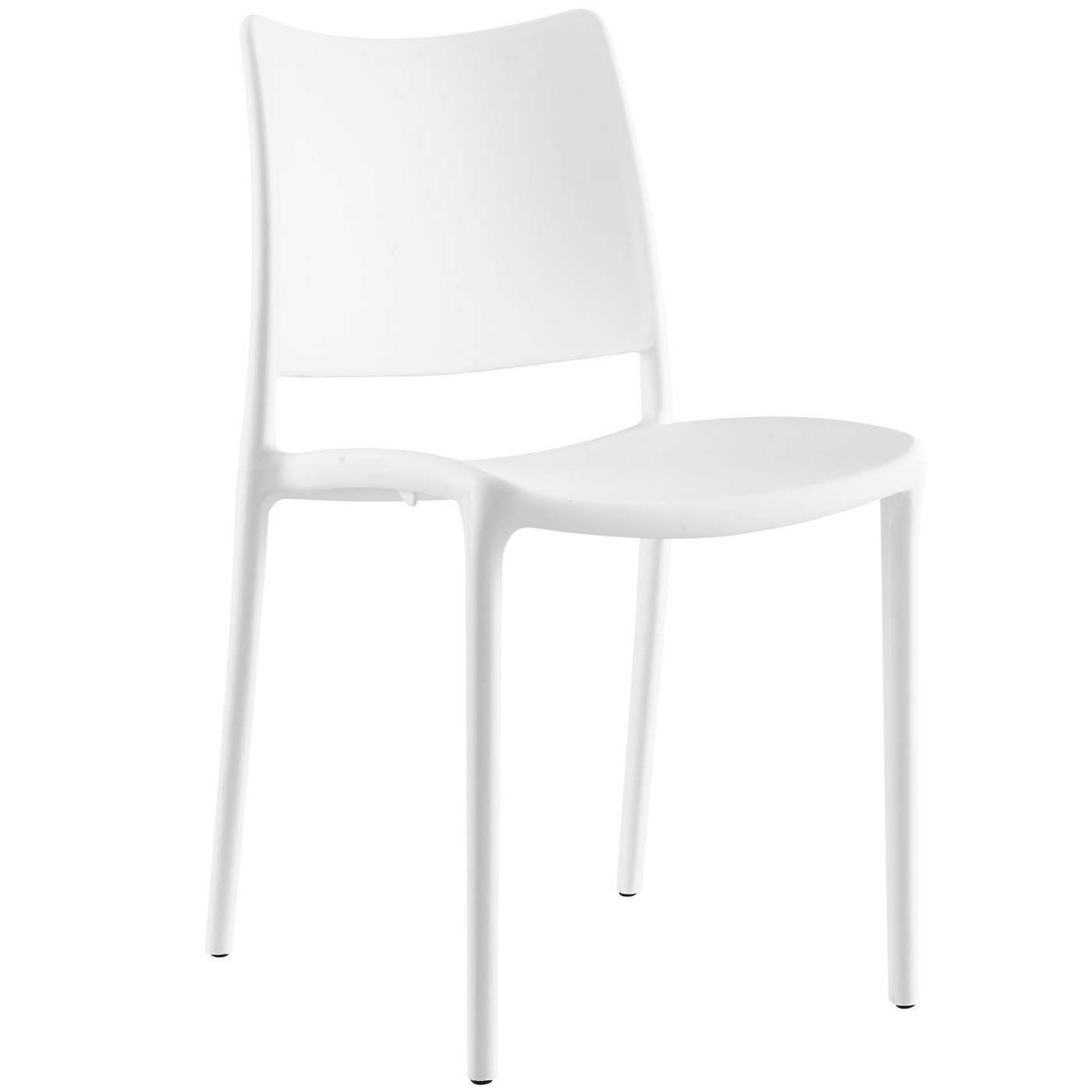 White Plastic Modern Chairs Hipster Contemporary Stackable Plastic Dining Side Chair