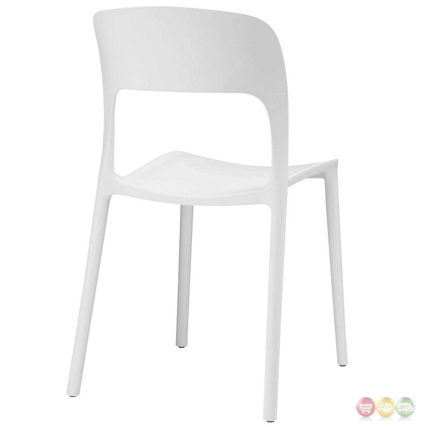 White Plastic Modern Chairs Hop Modern Stackable Plastic Dining Side Chair White