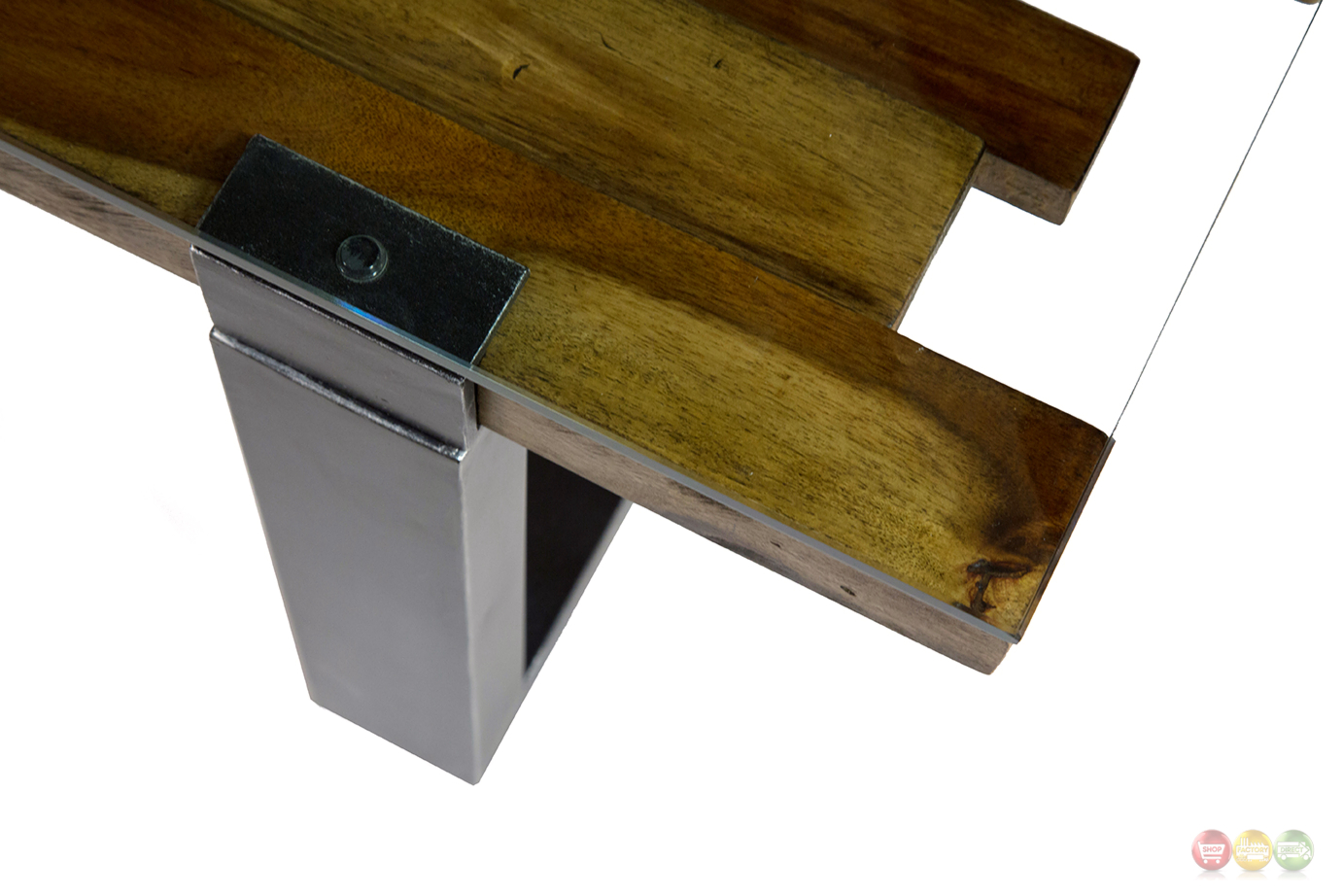 Rustic Wood And Glass Coffee Table Keystone Rustic Modern Mahogany Coffee Table W Stylish