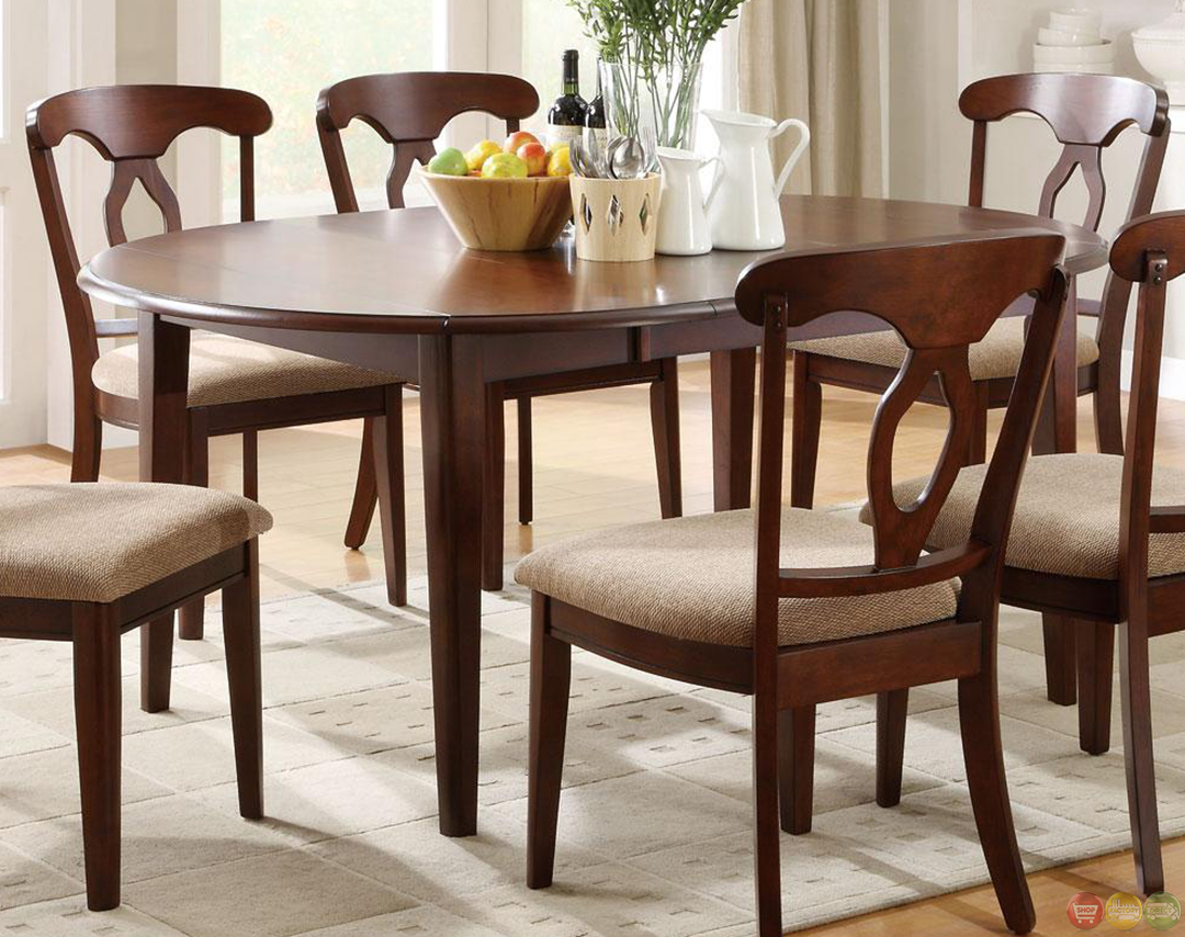 Space Saver Dining Set Liam Cherry Finish 7 Piece Space Saver Dining Room Set