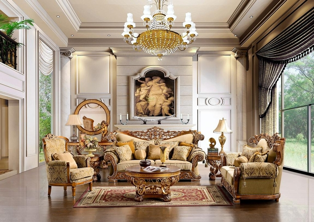 Luxurious Traditional Style Formal Living Room Set HD-369 - formal living room chairs