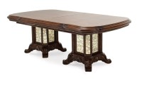 "Platine De Royale 88""-135"" Double Pedestal Dining Table In ..."