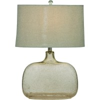 Portman Clear Seeded Glass Table Lamp L2491TEC