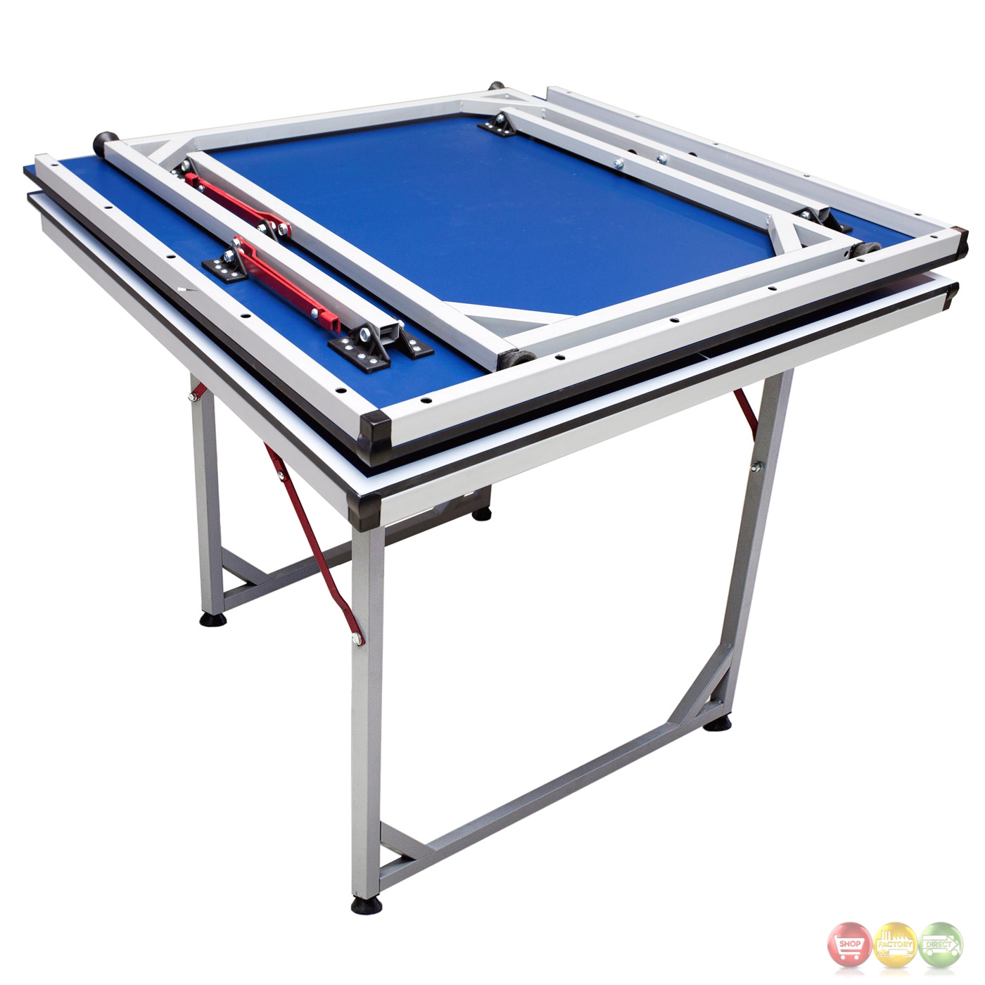 Reflex Deep Blue 6 Ft Folding Table Tennis Game Table With