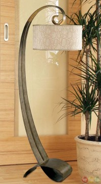 Remy Smoked Bronze Finish Drum Lampshade Floor Lamp