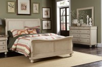 Sleigh Bed Furniture Set | White Sleigh Bedroom Furniture