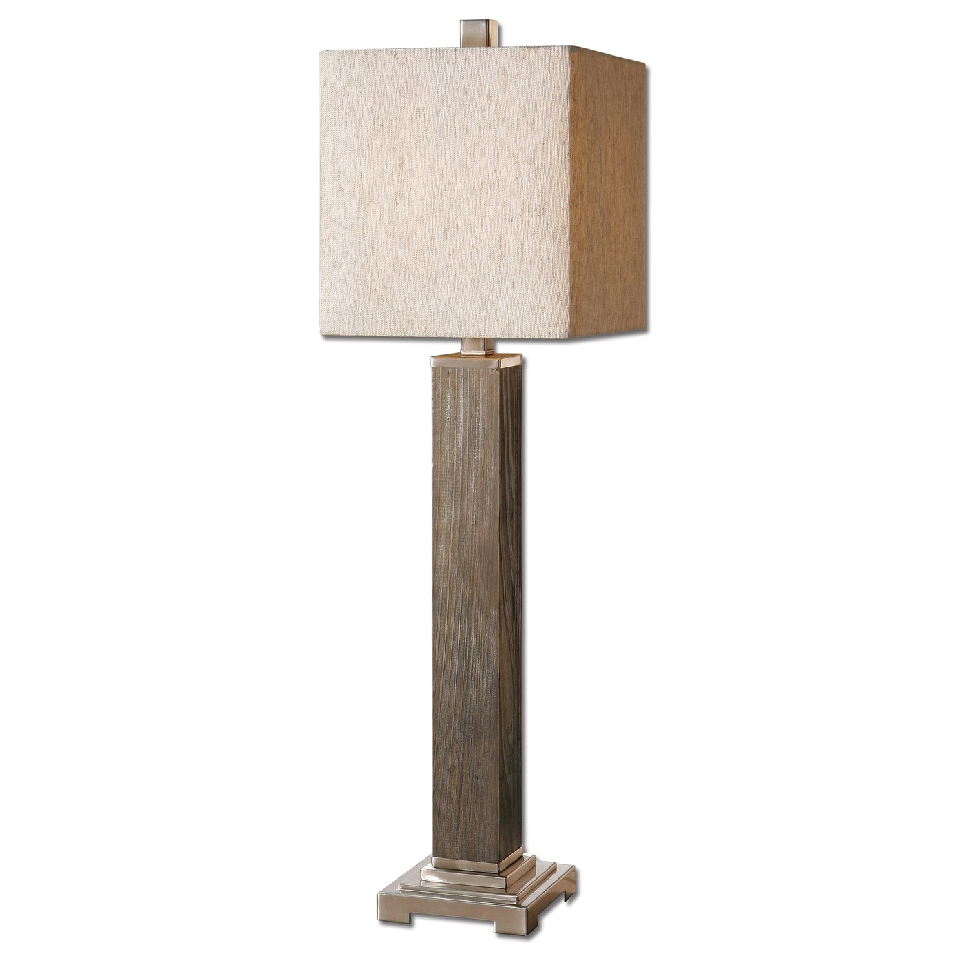 Real Wood Lamps Sandberg Solid Wood Base Buffet Lamp 29576 1